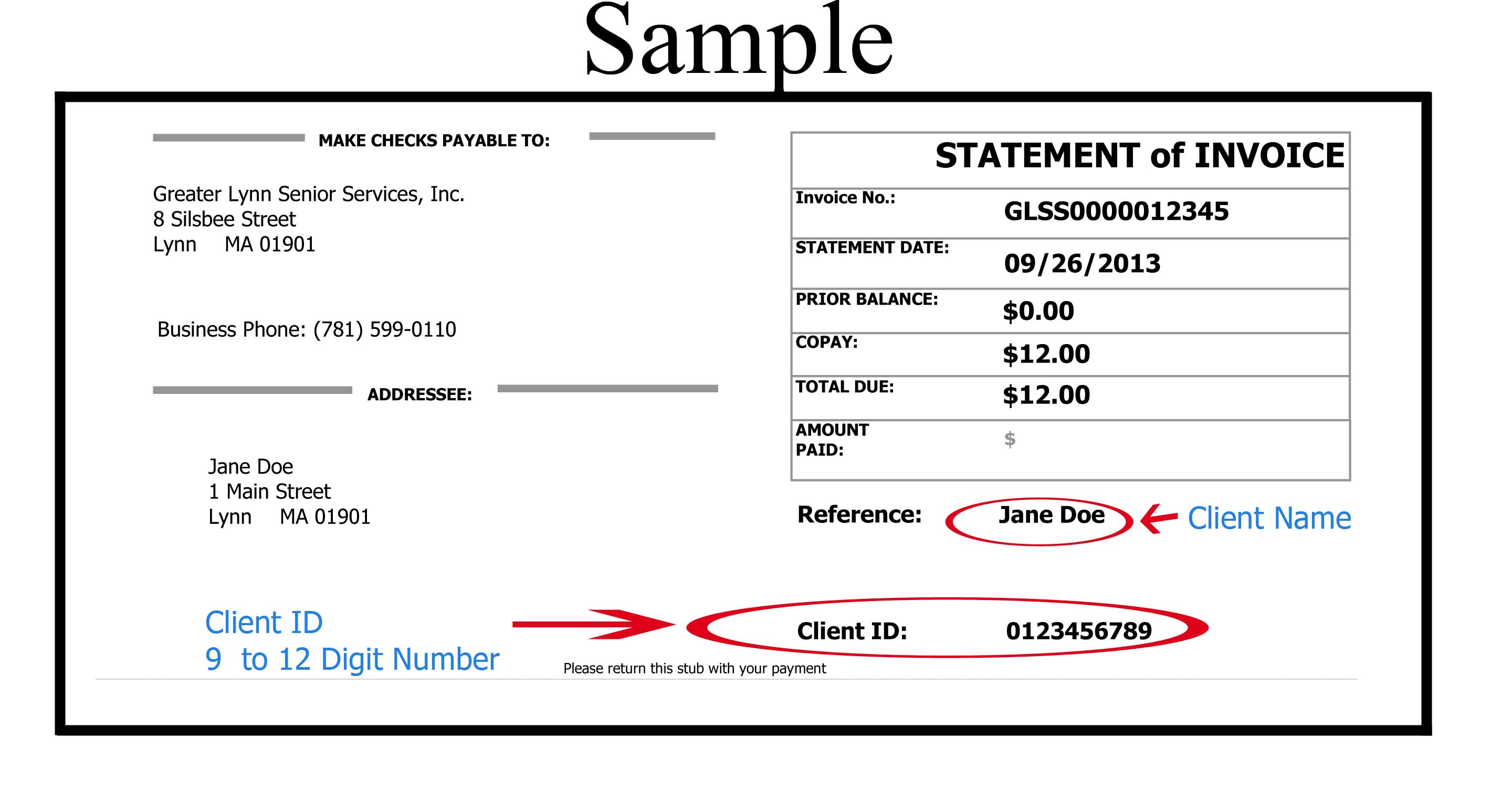 Picture of Sample Invoice